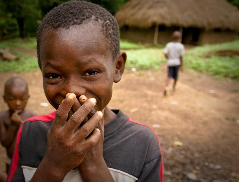 happy smiling kids sierra leone Masanga