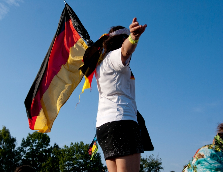 German flag at Roskilde Festival 2010