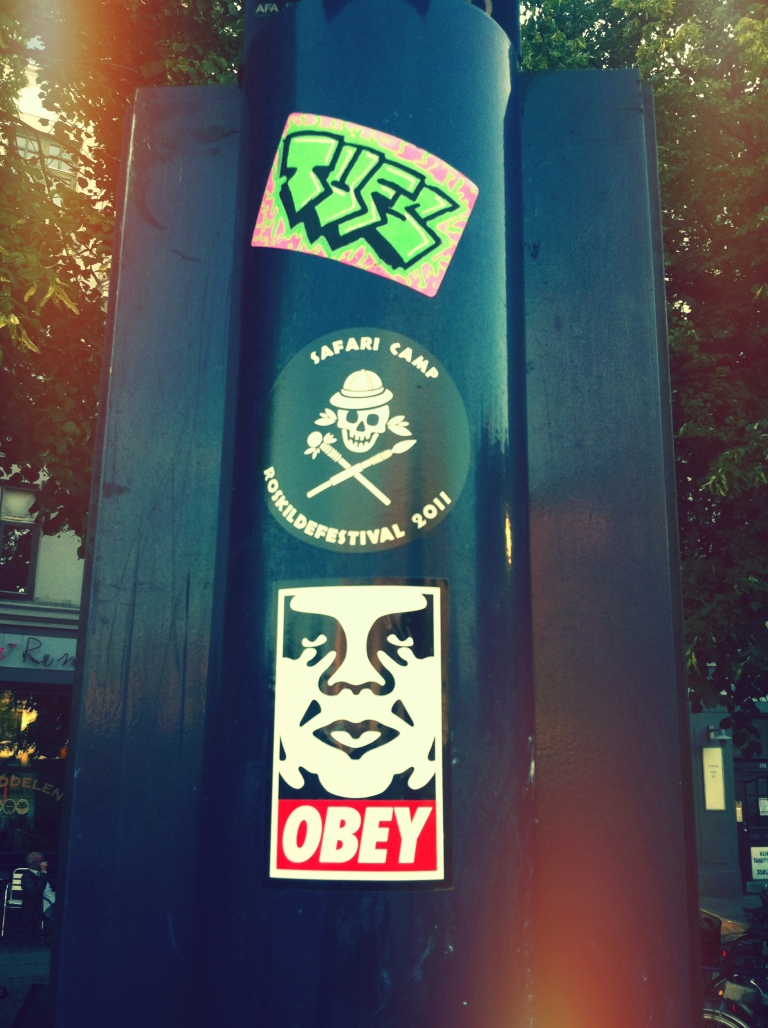 OBEY, Shepard fairey sticker copenhagen